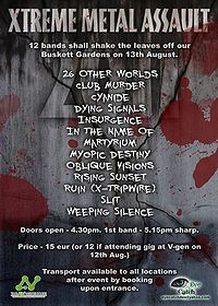 Xtreme Metal Assault 2011 poster
